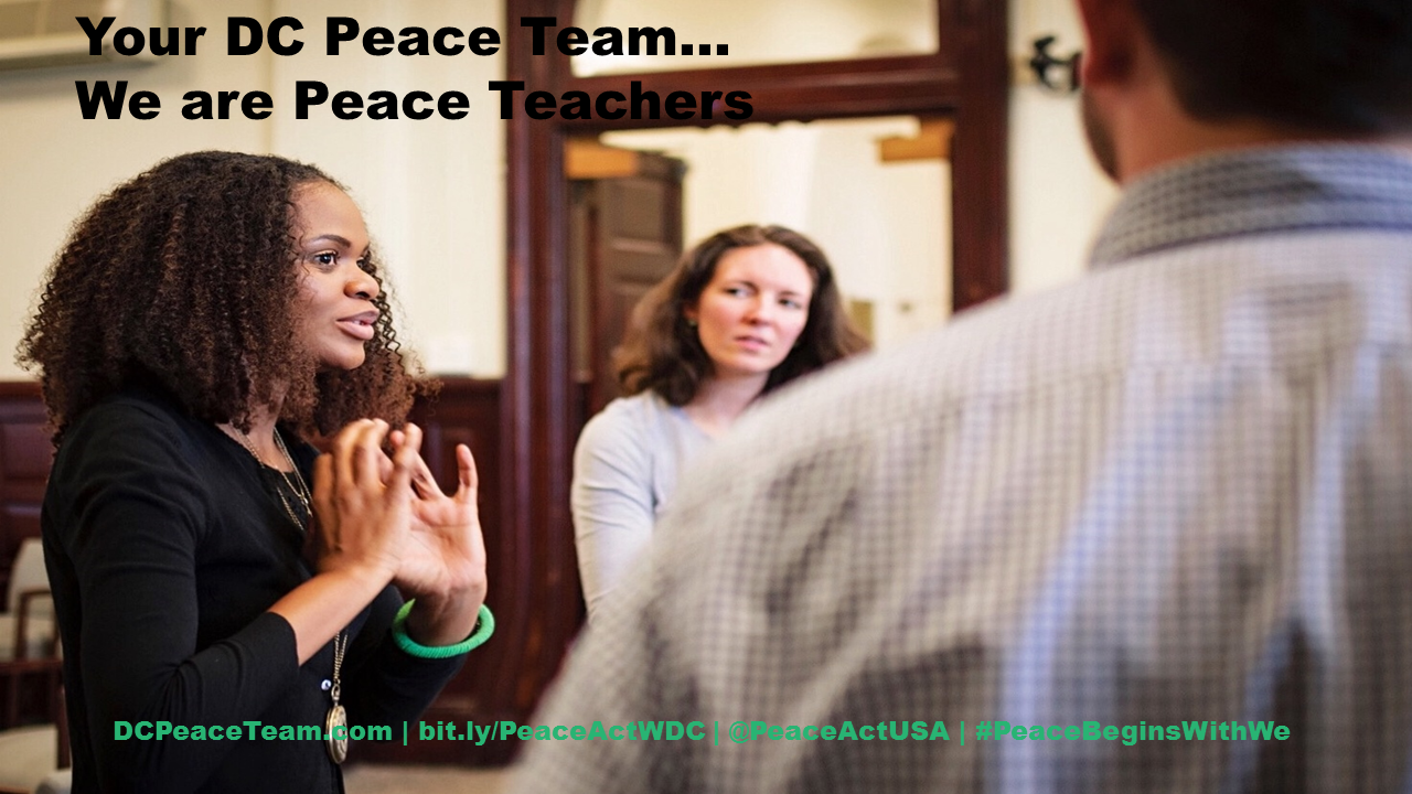 DC Peace Team...We are Peace Teachers